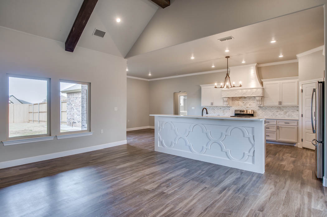 Kitchin in custom home by Sharkey Custom Homes in Lubbock.