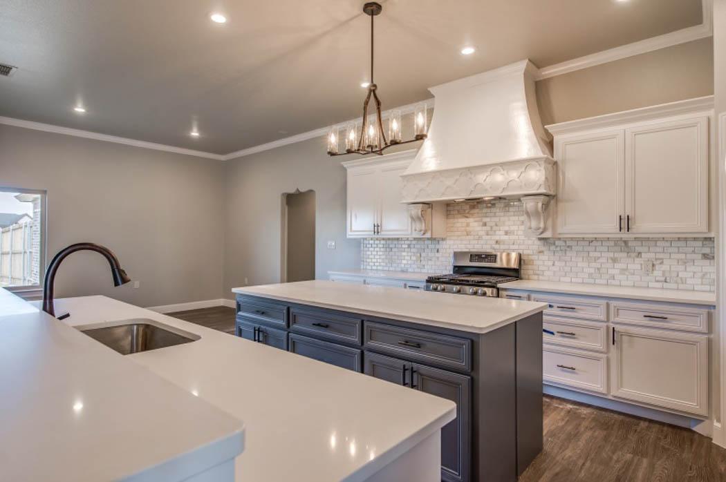 Kitchen in fine Lubbock custom home.