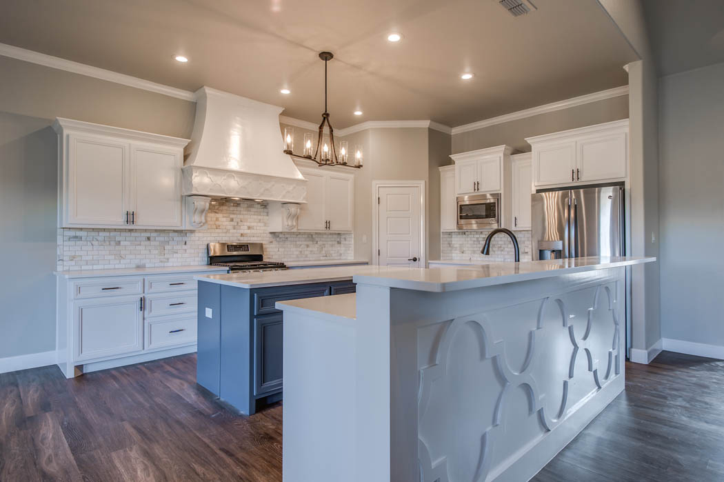 Custom home kitchen in Lubbock, Texas.