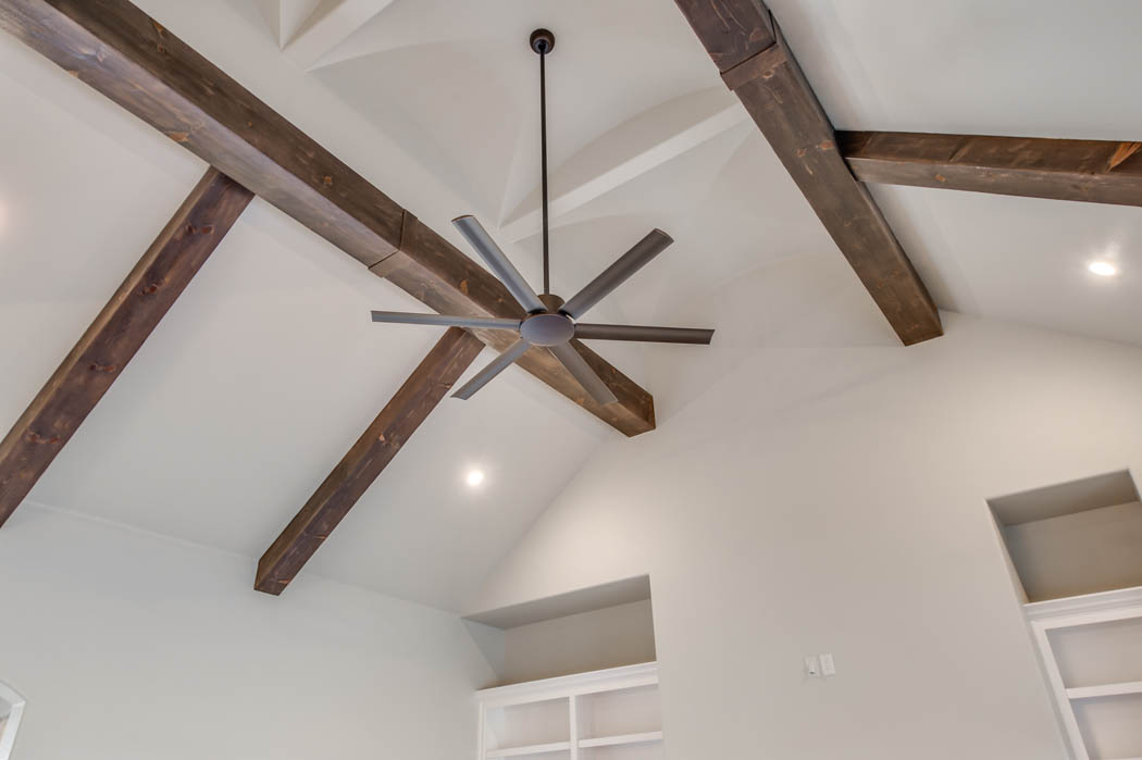 Vaulted ceiling in custom home in the Lubbock area.