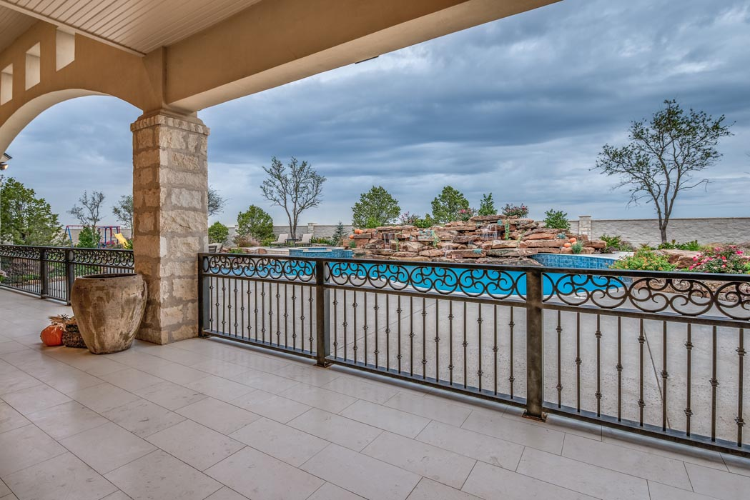 Amazing outdoor living space in new home built by Sharkey Custom Homes in Lubbock, Texas.