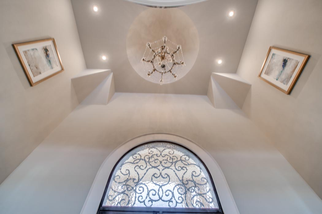 Vaulted entry of amazing custom home in Lubbock, Texas.