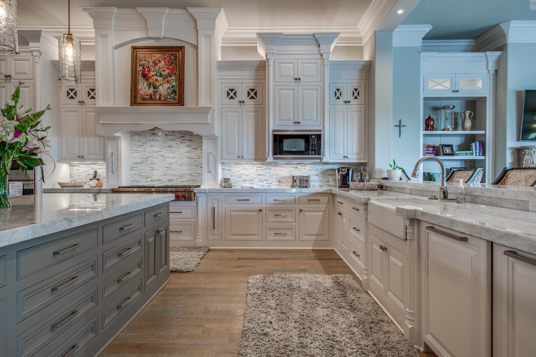 Beautiful kitchen in new custom home built by Sharkey Custom Homes in Lubbock, Texas.