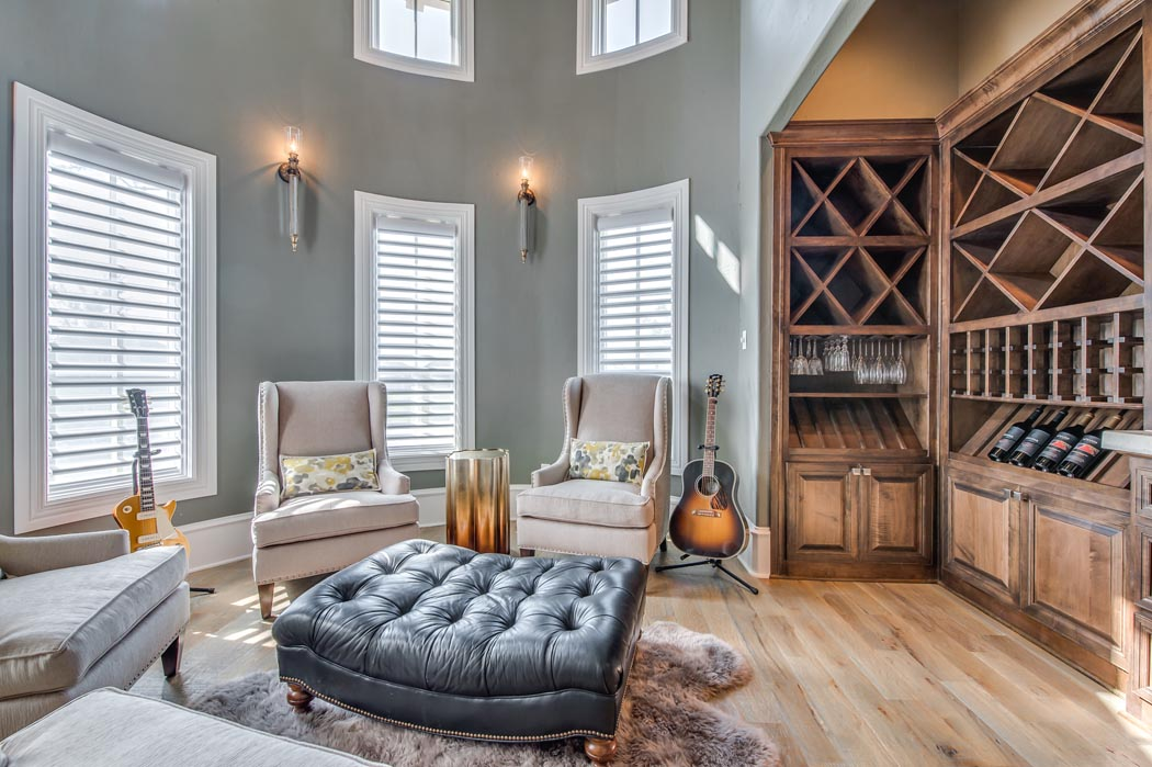 Beautiful study or living area in home built by Sharkey Custom Homes in the Lubbock area.
