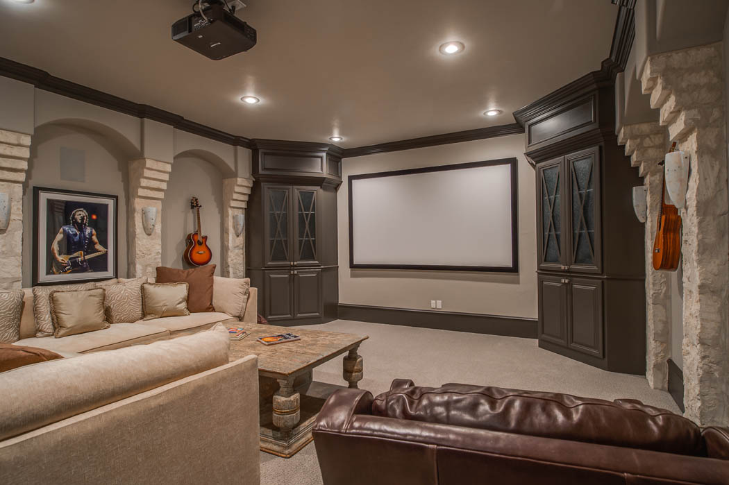 Beautiful home theatre in Lubbock area home.