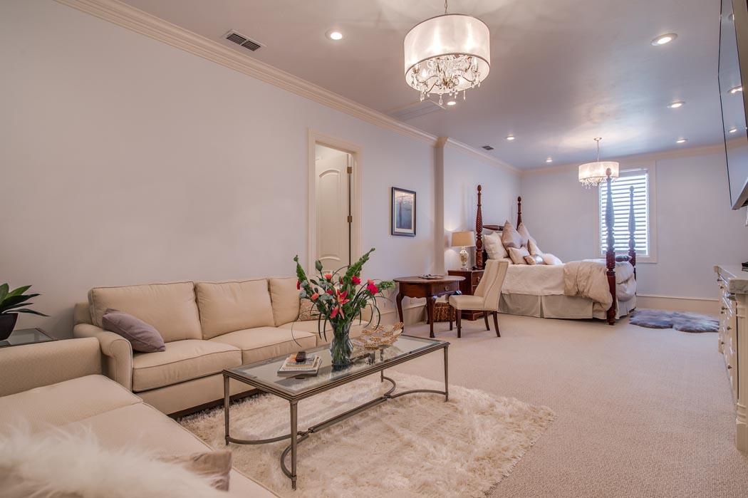 Den/living area in Lubbock custom home.