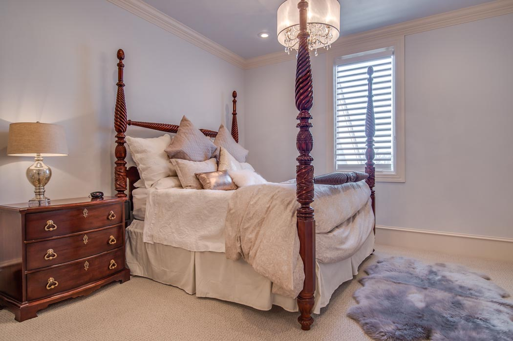 Bedroom in custom home in the Lubbock, Texas area.