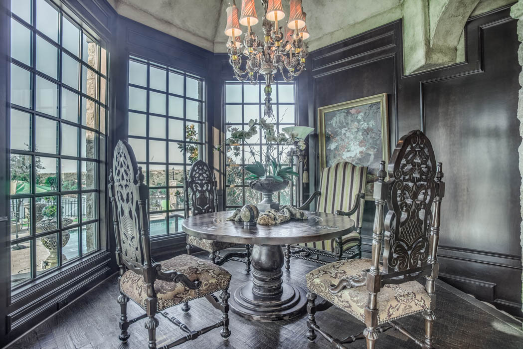 Lovely dining room in Lubbock, Texas home.