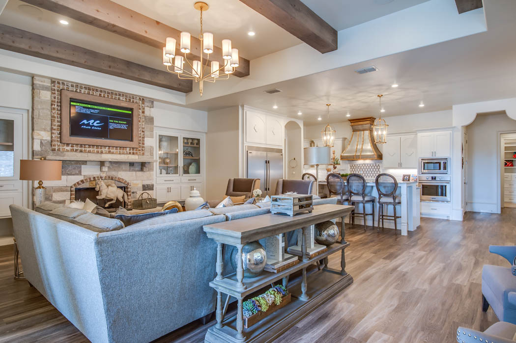 Amazing living area with great design in Lubbock, Texas home.
