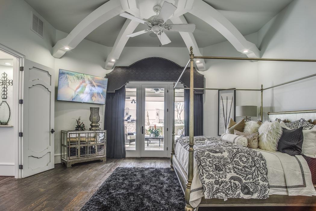 Amazing master bedroom in custom home built near Lubbock.