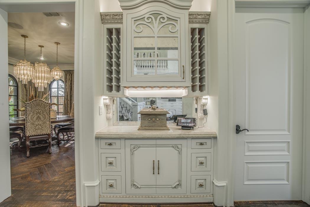 View of vanity in master bath of custom home in Lubbock.