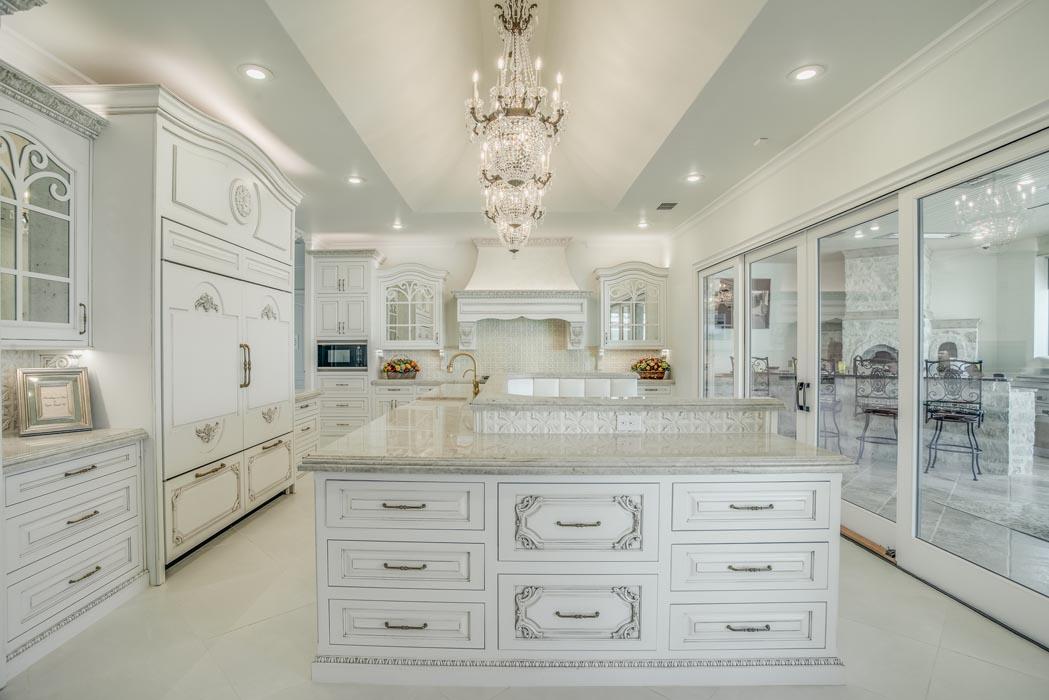 Spacious, elegant kitchen in custom home built by Sharkey Custom Homes, Lubbock.