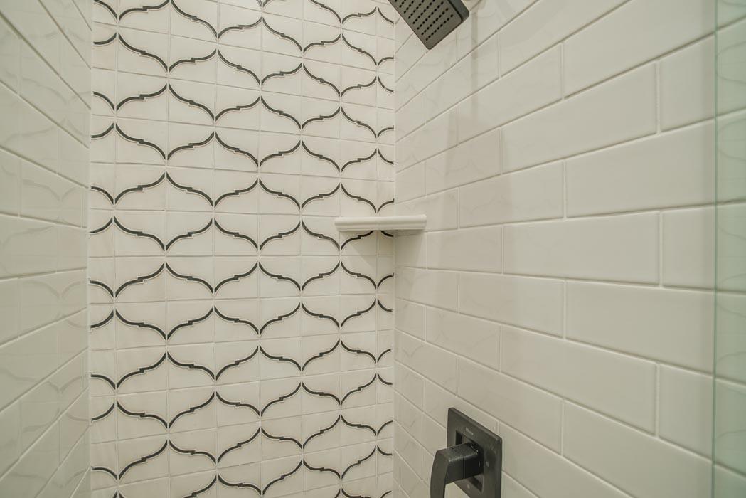 Shower in bath of custom home in Lubbock.
