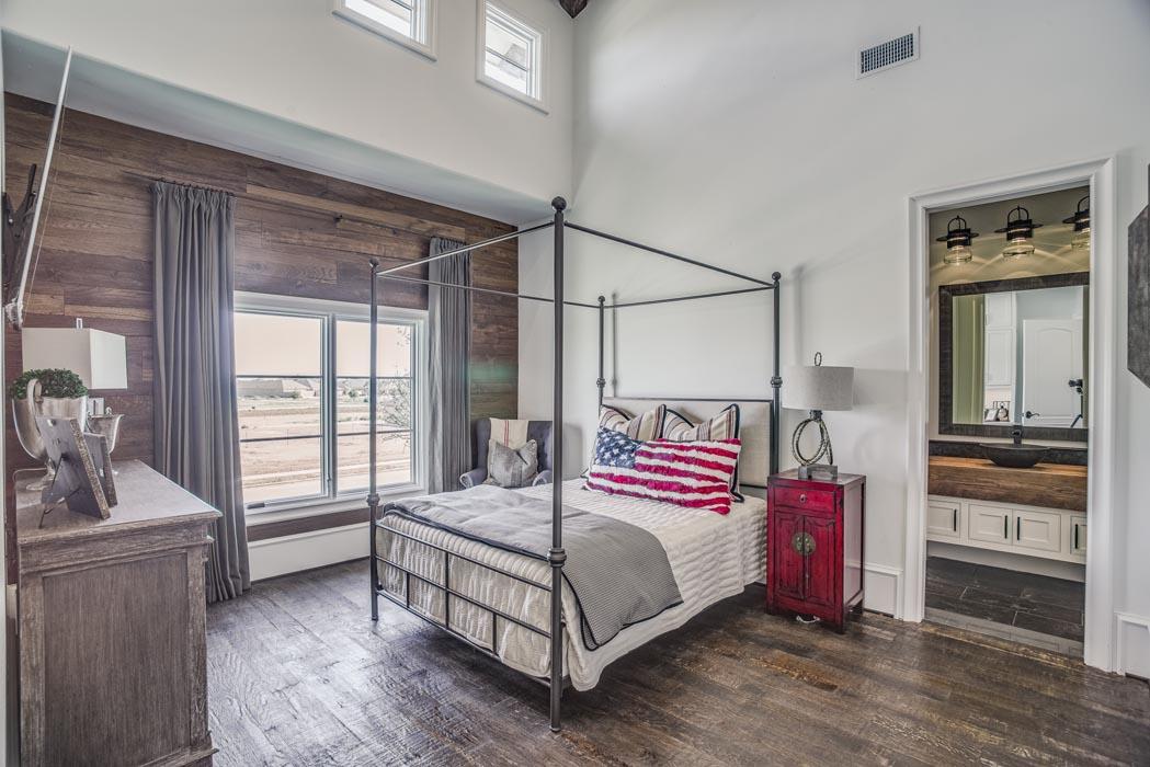 Stunning bedroom in custom home, built by Sharkey Custom Homes.