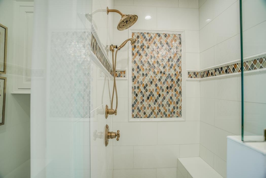 Spacious bath in custom home.