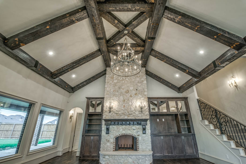 Ceiling treatment in custom home in Lubbock, Texas.