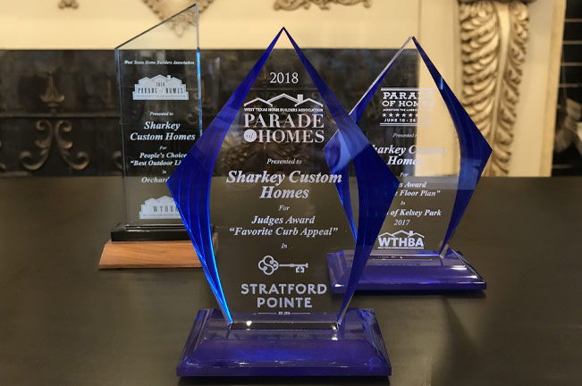 Sharkey Custom Homes has won numerous awards for many years for its beautiful homes.