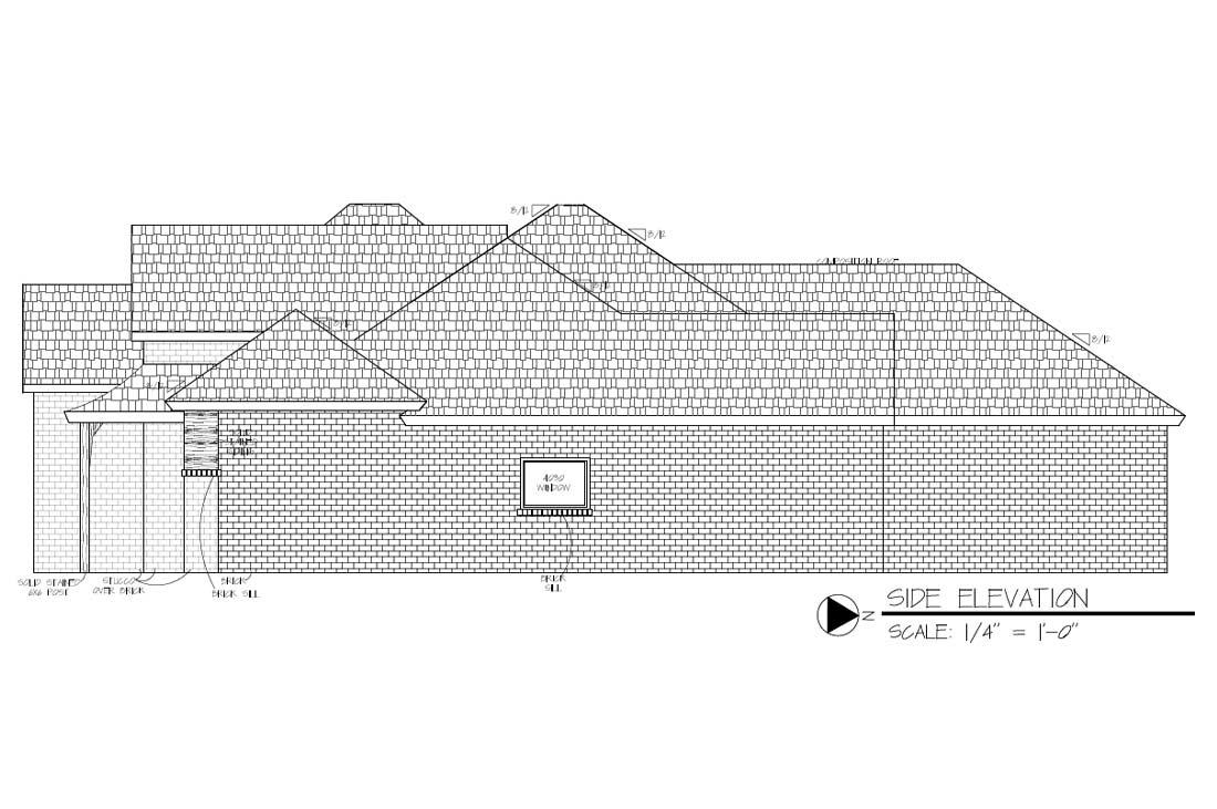 Diagrams of custom home in Lubbock, Texas