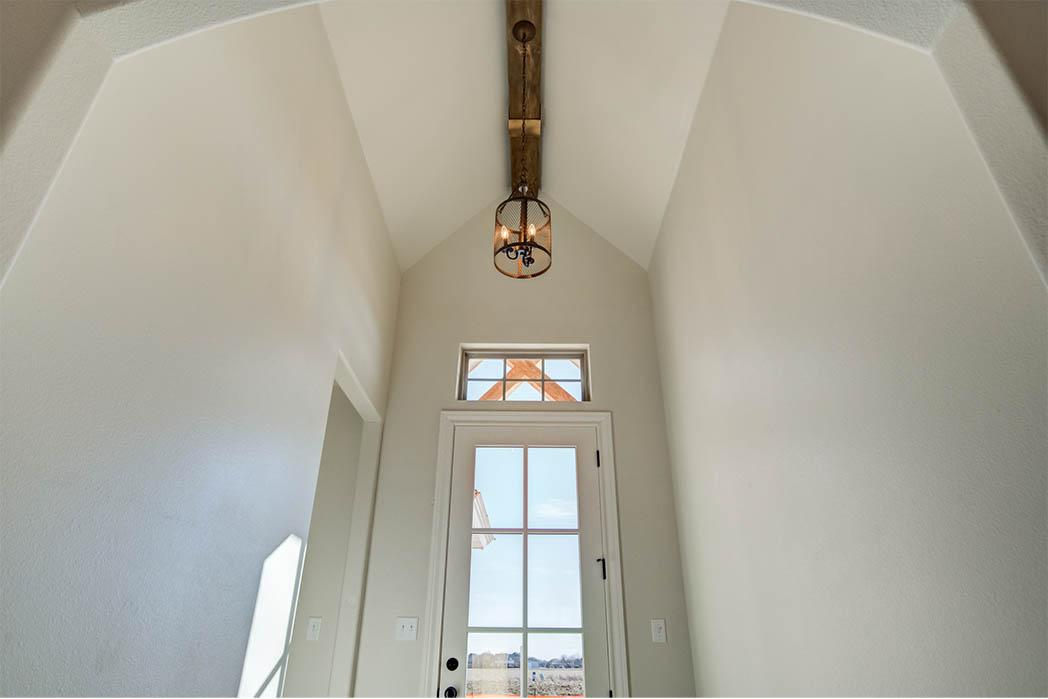 Detail of entry-foyer in new Lubbock, Texas home for sale.