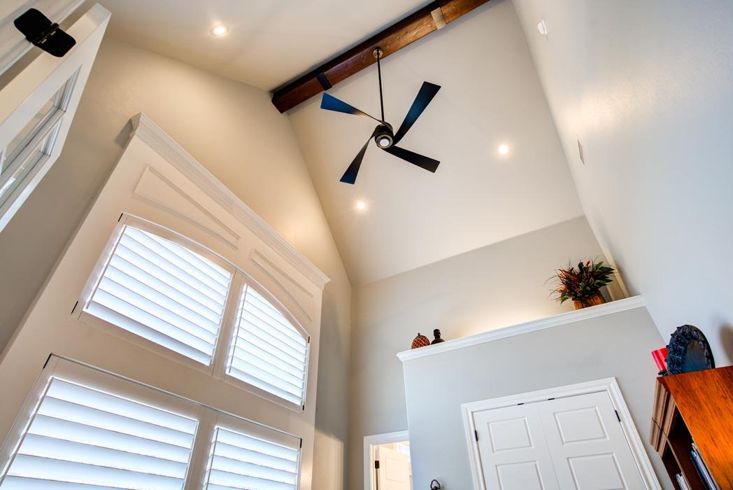 Beautiful ceiling example in home built by Sharkey Custom Homes in the Lubbock area.