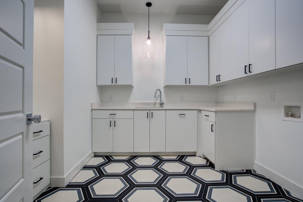 Spacious laundry area in new home built in Lubbock.