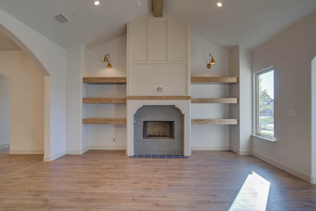 Spacious living room in beautiful home for sale in Lubbock, Texas.