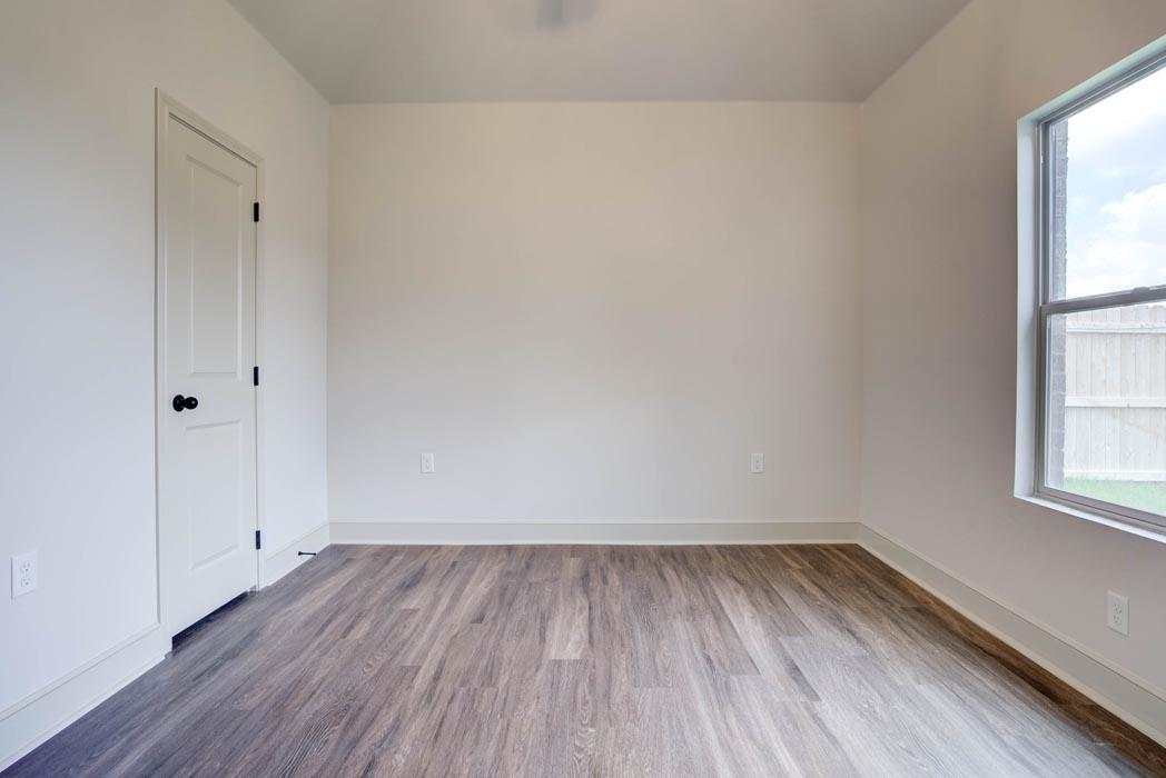 Spacious bedroom in new home for sale in Lubbock.
