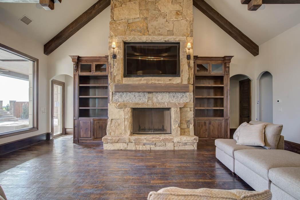 Photograph of spacious living area in home in Lubbock.