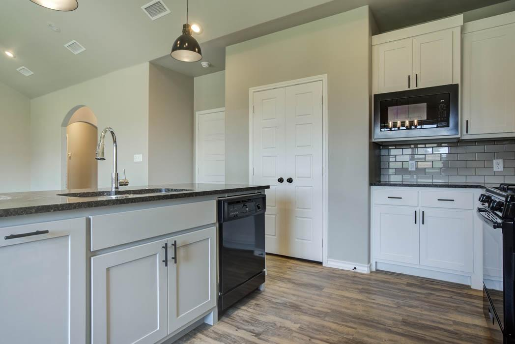 Spacious kitchen in new home for sale in Lubbock.