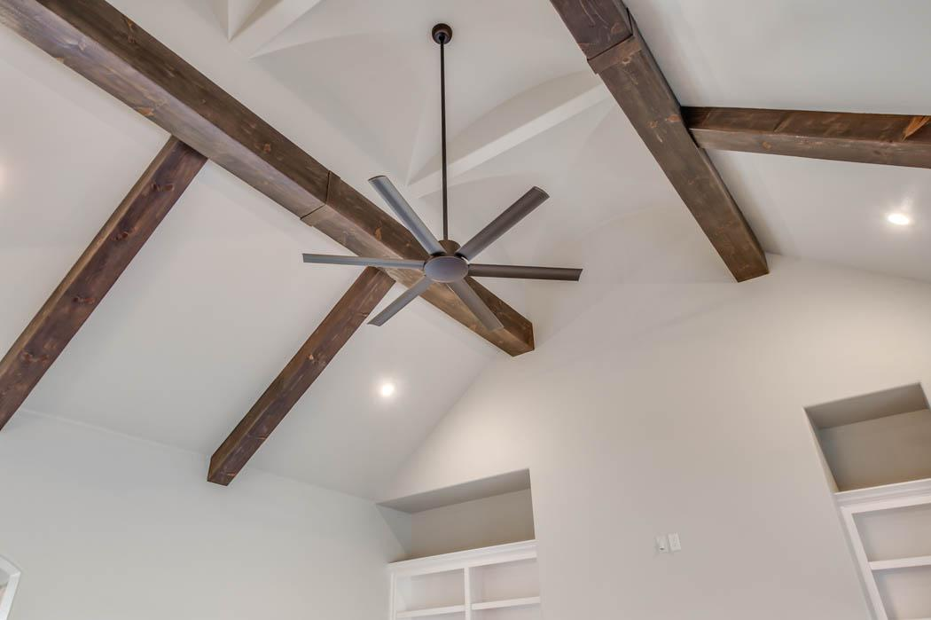 Beautiful ceiling in home by Sharkey Custom Homes.