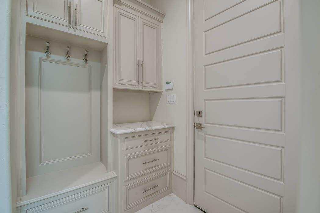 Spacious laundry room in custom home in the Lubbock area.