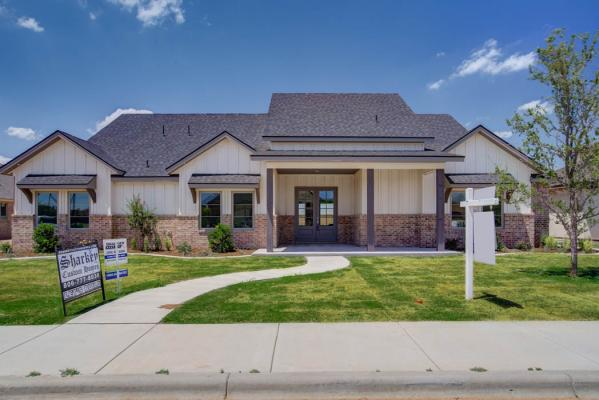 New home built in Lubbock, Texas by Sharkey Custom Homes.