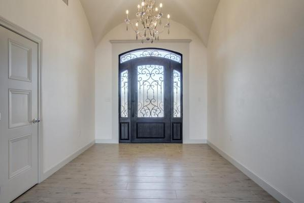 Beautiful entry area example in home built by Sharkey Custom Homes in the Lubbock area.