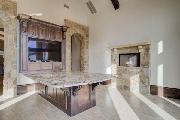 Spacious dining area in West Texas home.