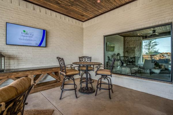Spacious outdoor living area in Lubbock, Texas home.