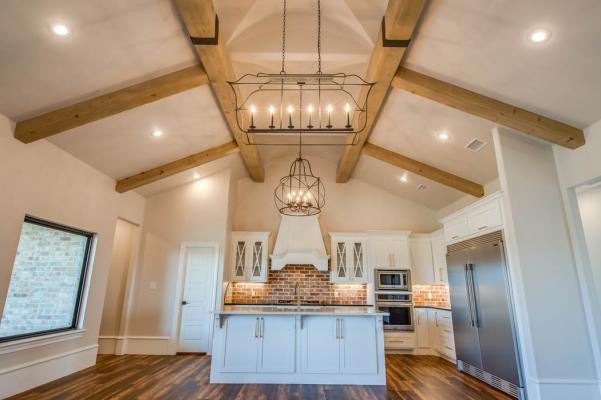 Photo illustrating beautiful details of kitchen in home in Lubbock.
