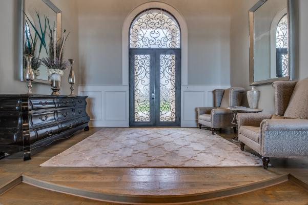 Amazing entry in custom home by Sharkey Custom Homes.
