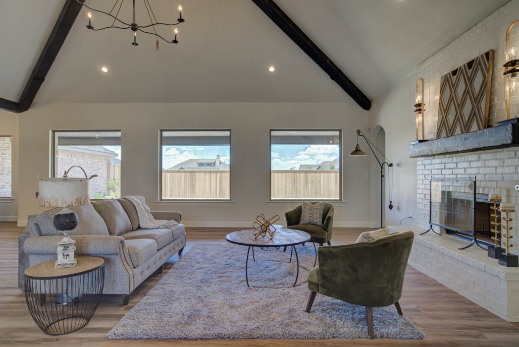 Beautiful living room interior in Lubbock area home.