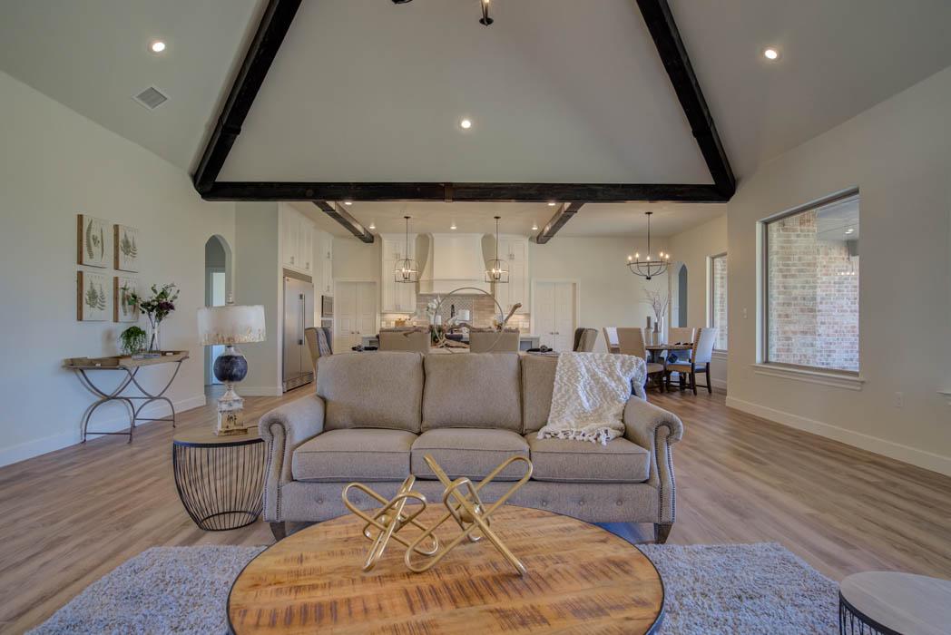 Spacious living room in beautiful home in Lubbock, Texas.