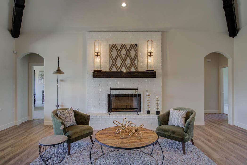Beautiful home interior by Sharkey Custom Homes in Lubbock, Texas.