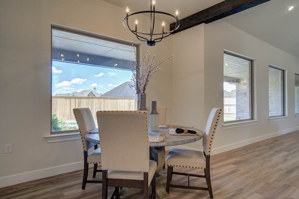 Beautiful dining area in Lubbock, Texas home.