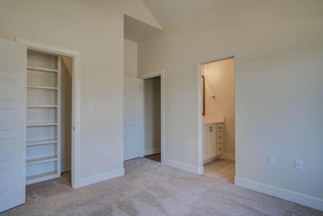 Detail of bedroom in new Lubbock home.