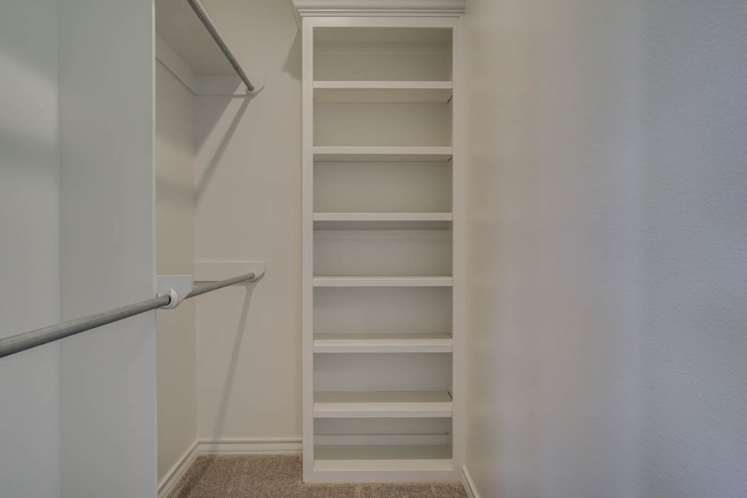 Spacious closet in new Lubbock, Texas home.
