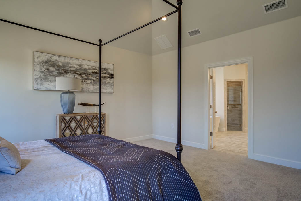 Beautiful master bedroom in Lubbock, Texas home.