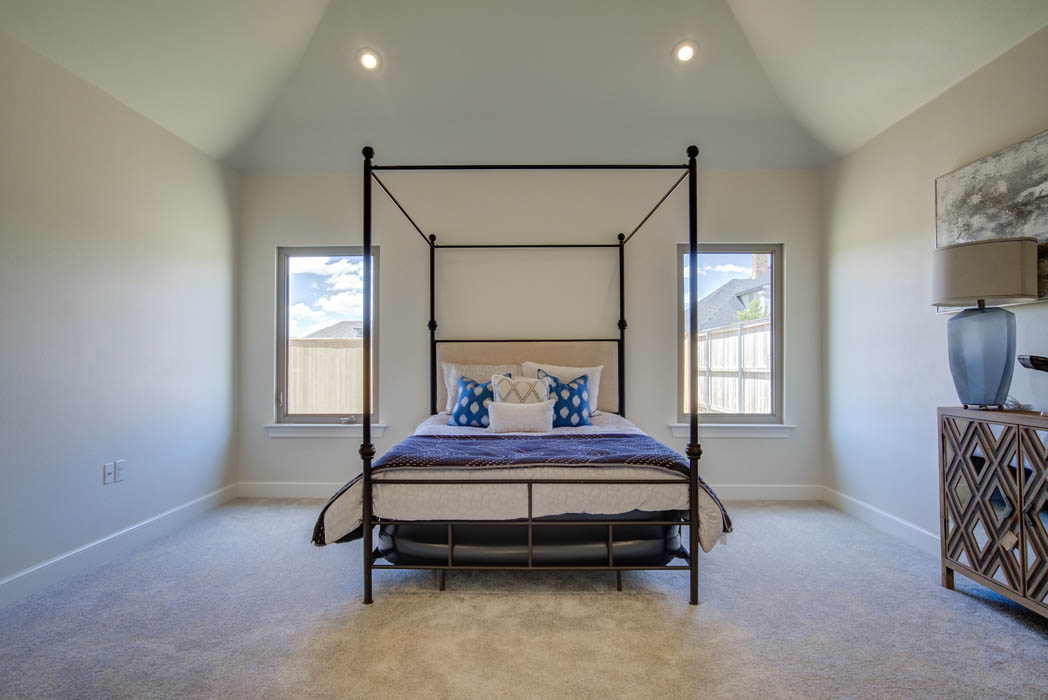 Master bedroom in beautiful new home in the Lubbock, Texas area.