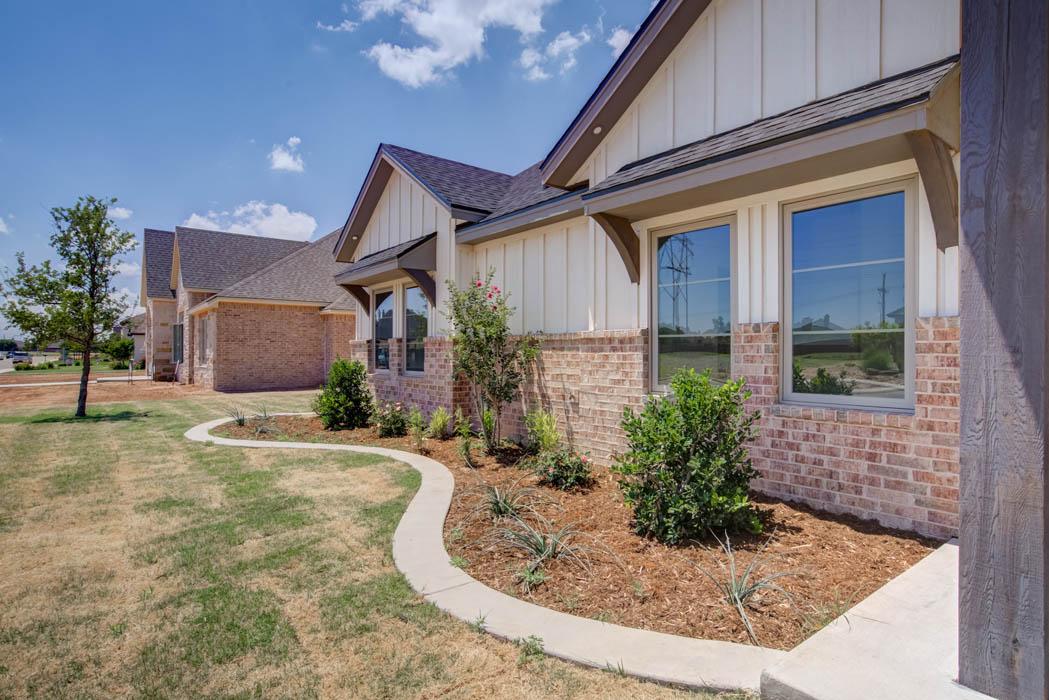 Exterior of custom home in Lubbock, Texas.