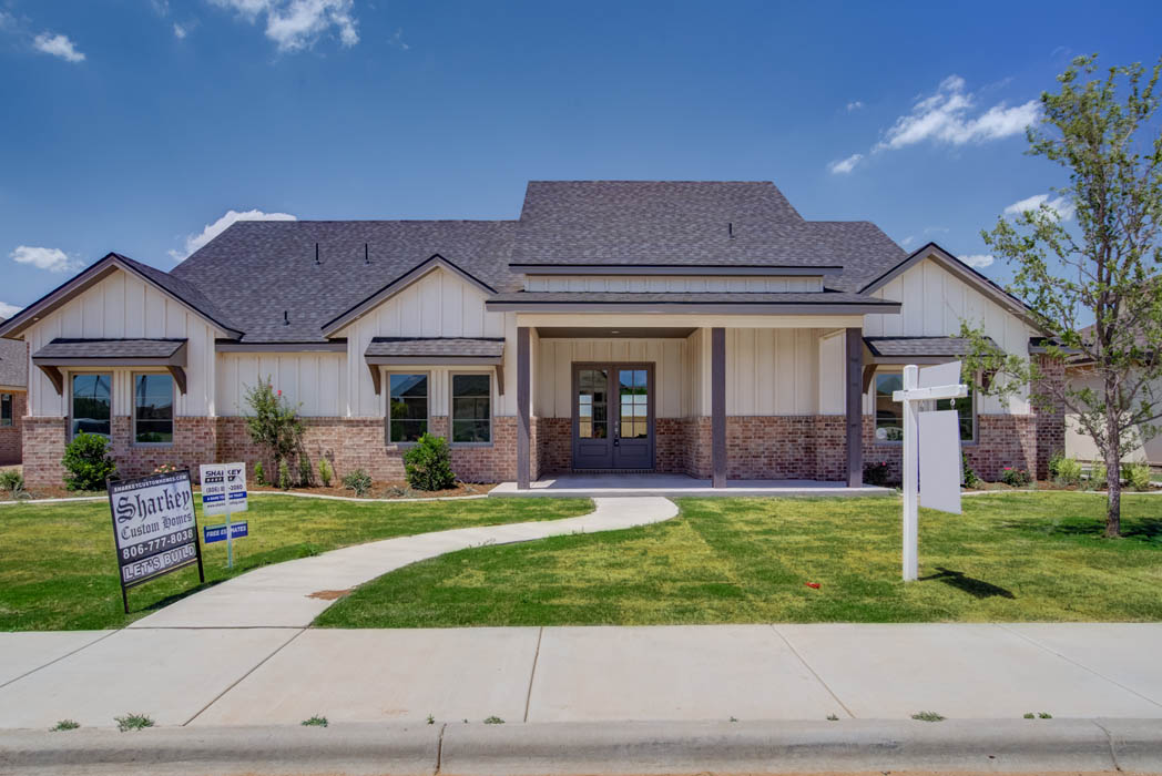 Beautiful home by Sharkey Custom Homes in Lubbock, Texas.
